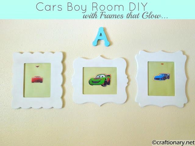 cars themed boys bedroom frames