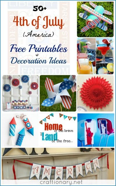 july 4th free printables