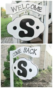 painted monogrammed welcome sign tutorial