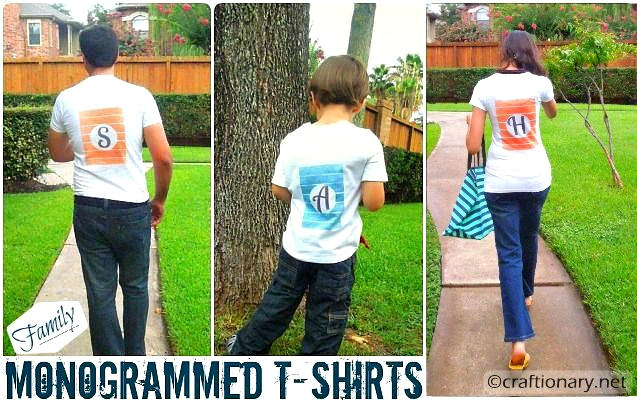 family monogrammed t-shirts ink effects