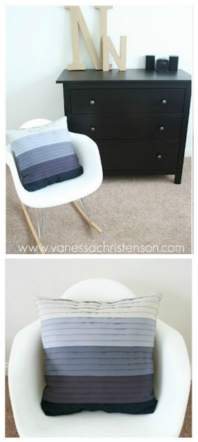 DIY pleated pillow