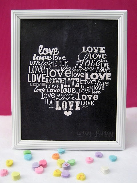 love word art printable