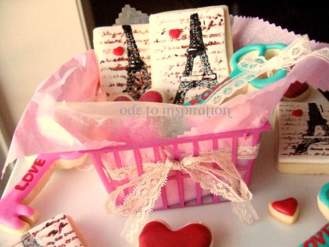valentines stamped cookies