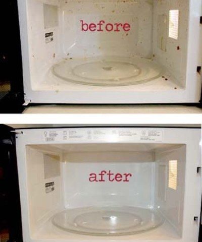 microwave kitchen cleaning tips