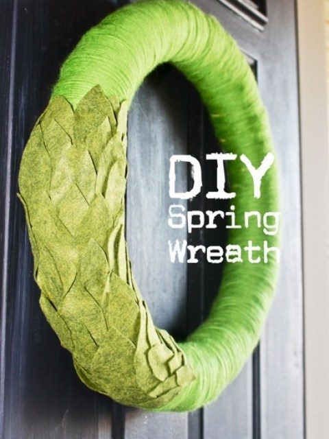 spring leaf wreath