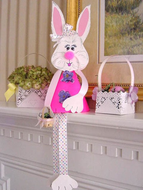 paper easter craft bunny home decor