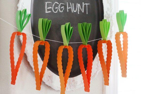carrots paper garland