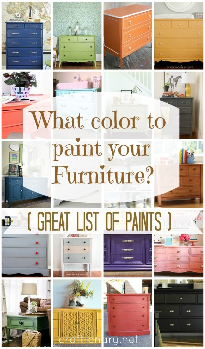 what color to paint furniture