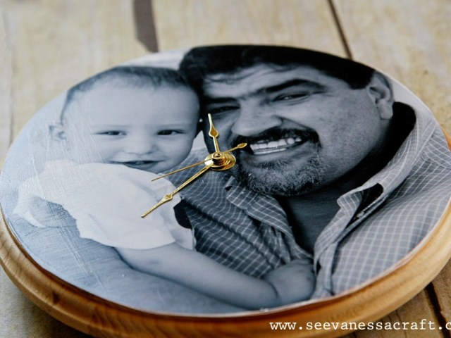 handmade photo clock
