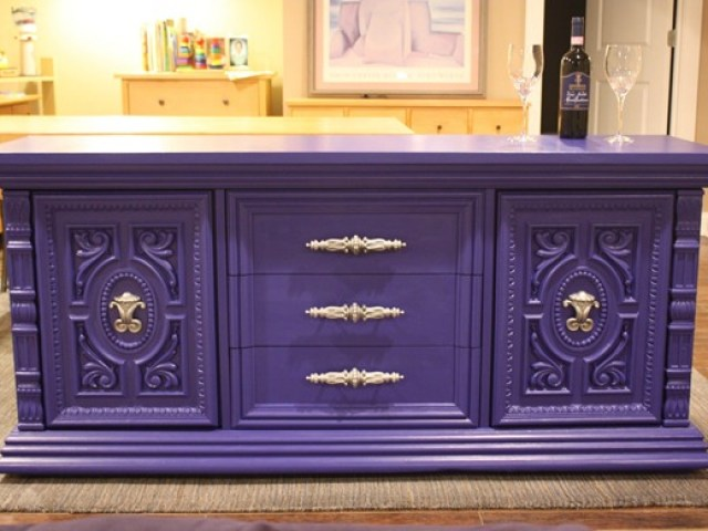 purple painted furniture