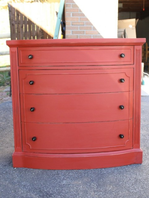 red-painted-furniture