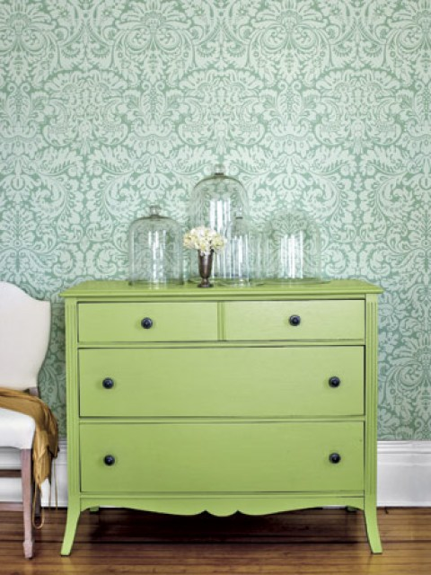 meadow green painted furniture