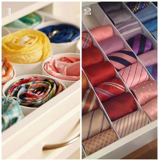 tie organization in drawers