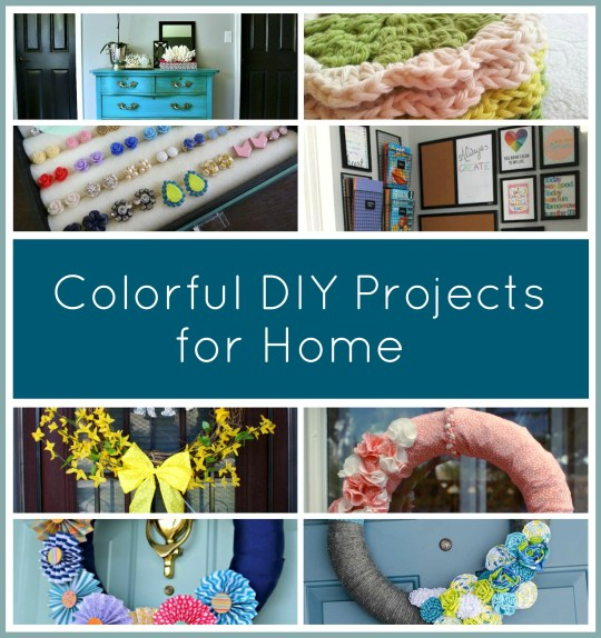 colorful DIY projects for home