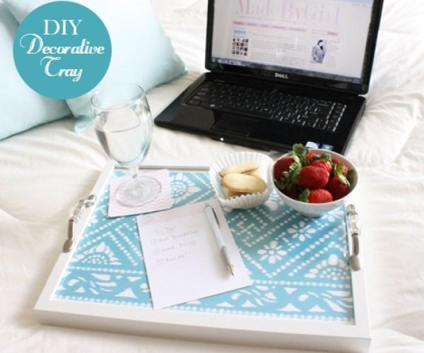 decorative fabric tray