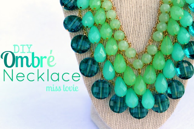 handmade ombre necklace mothers day gifts handmade