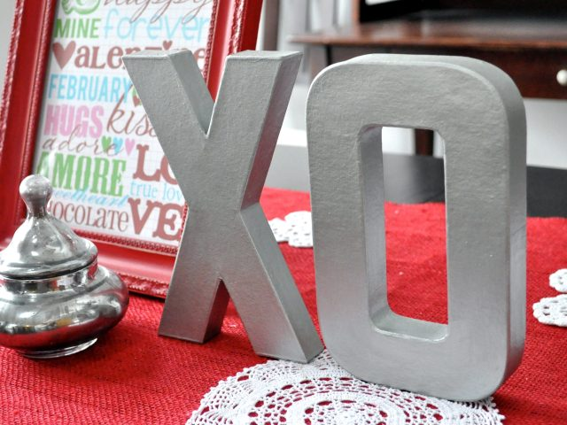 painted faux letters
