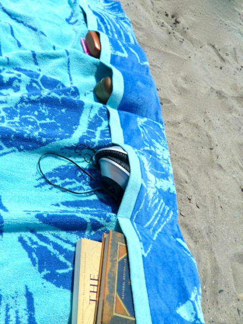 beach towel with pockets tutorial