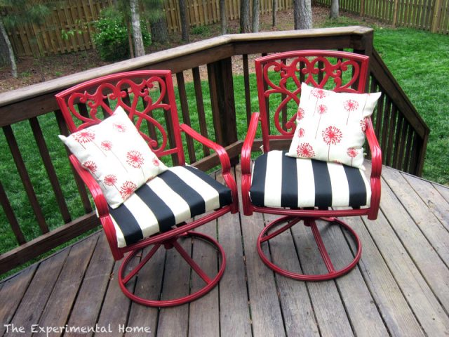 DIY painted deck chairs