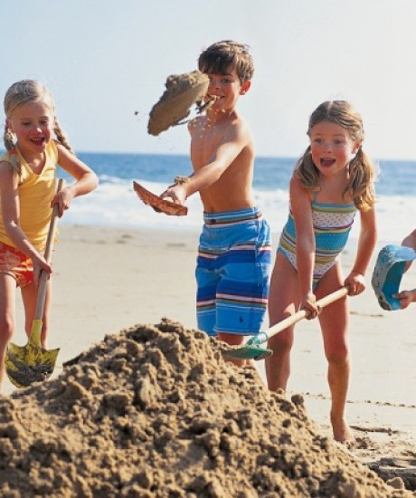 how to make sand castle with kids
