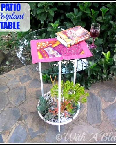patio pot table