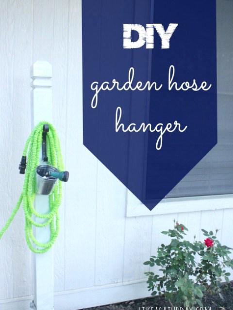 diy garden hose hanger tutorial