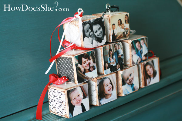 photo blocks gift idea