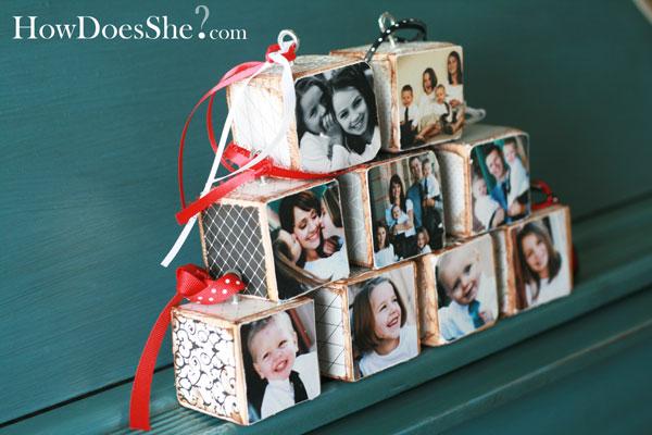 photo blocks gift idea