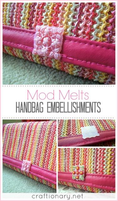 mod melts embellished handbag