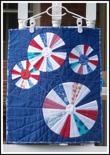 modern patriotic quilt