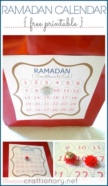 Ramadan Calendar Free Printable