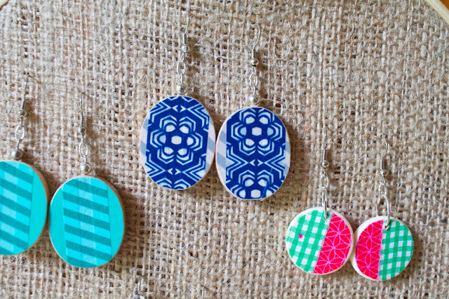 washi tape earrings