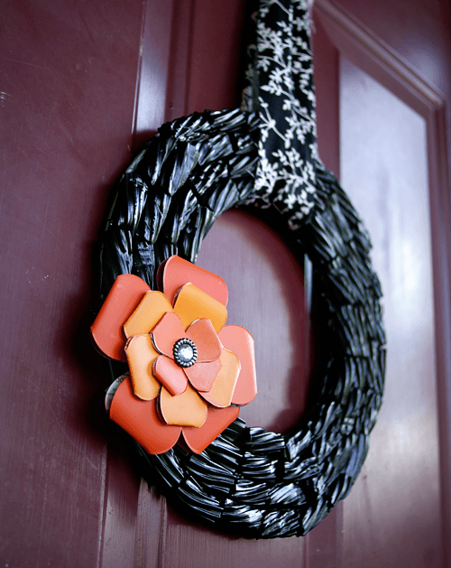 licorice wreath tutorial