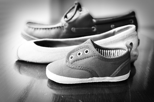 baby announcement shoes