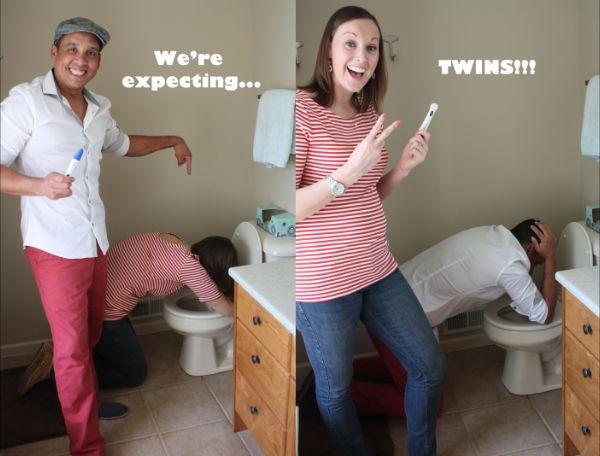 expecting twins photo idea
