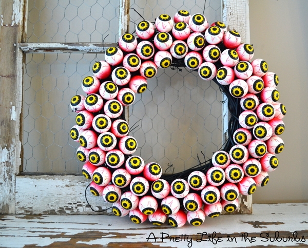 eyeballs wreath tutorial