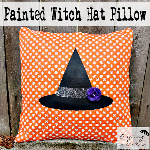 Halloween pillow witch