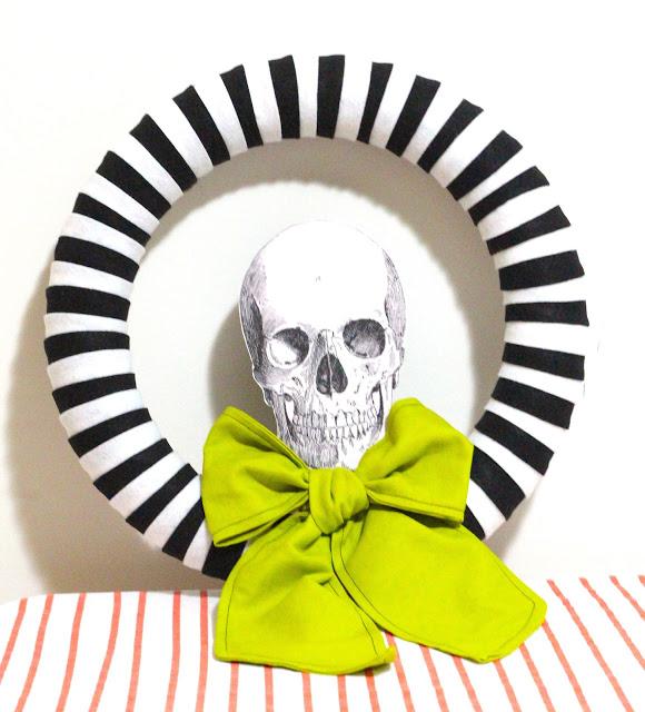 skull wreath tutorial