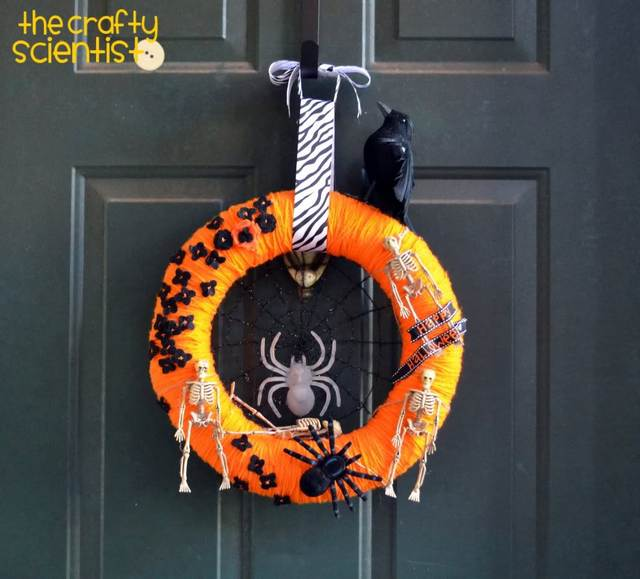 orange Halloween wreath