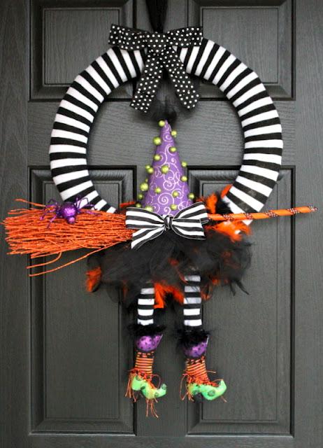 witch wreath tutorial