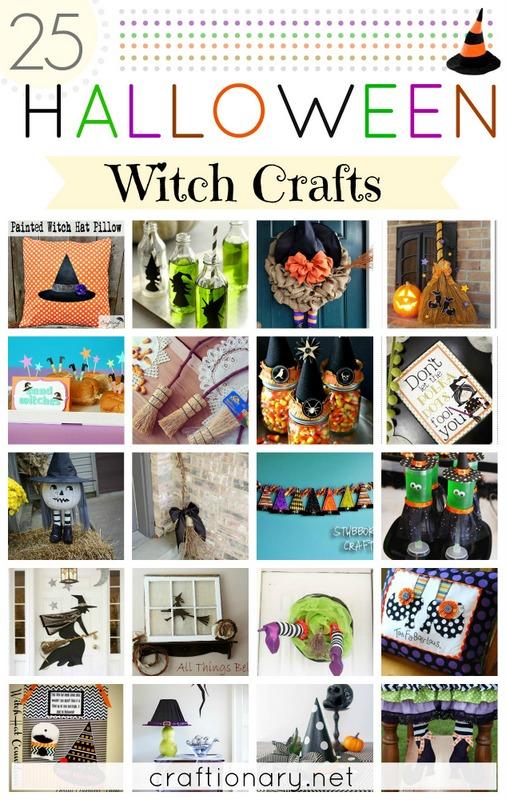 witch Halloween crafts
