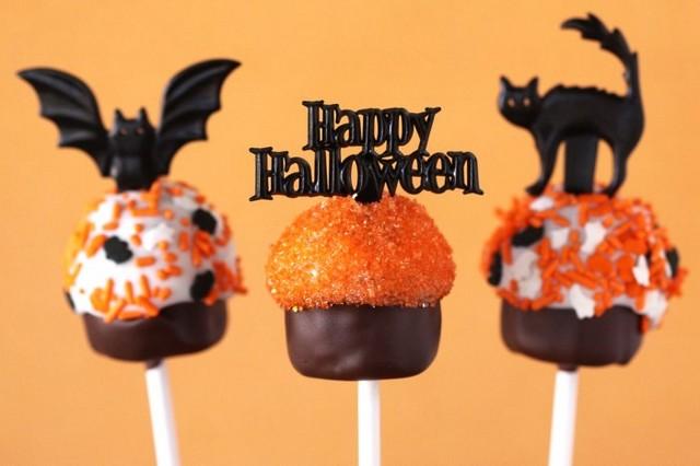 cupcake Halloween cake pops