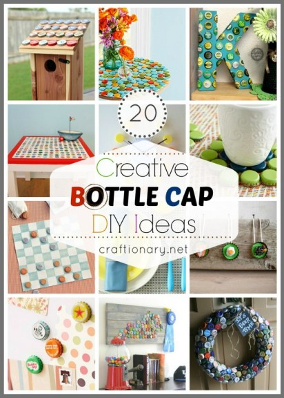 creative bottle cap ideas