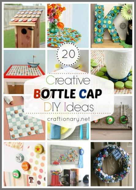 creative bottle cap ideas