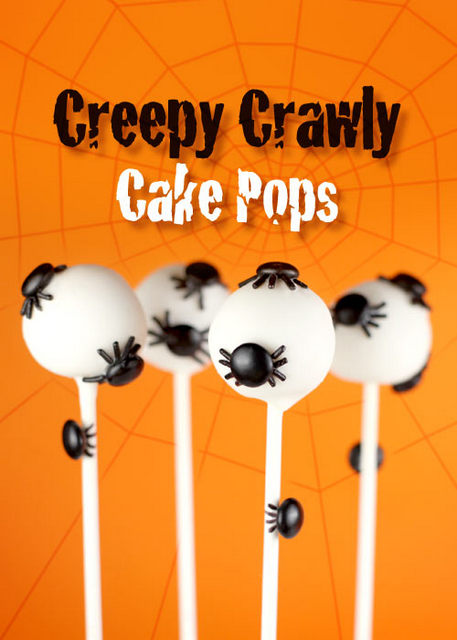 creepy crawly cake pops