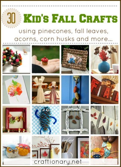 kids fall crafts autumn and thanksgiving ideas