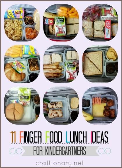 kindergarten finger food lunches