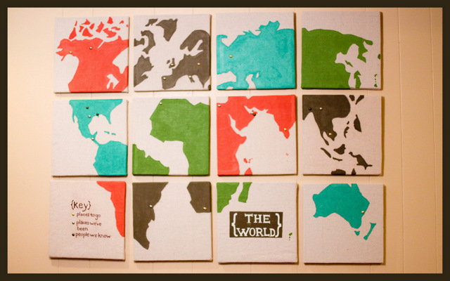easy canvas map art