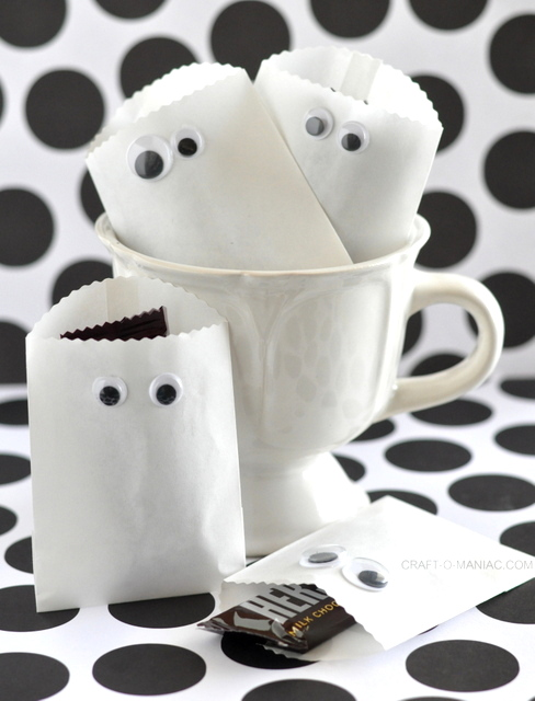 paper ghost party bags