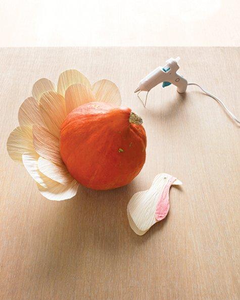 thanksgiving gourd turkey